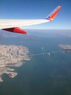 Flying over Bay Bridge