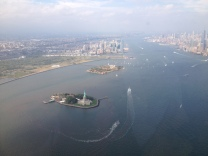Liberty Island from Helicopter